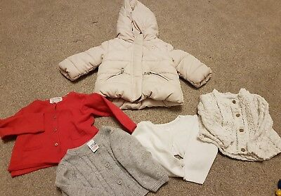 Baby girls designer Jacket and Cardigans  3-6 months bundle Zara Next