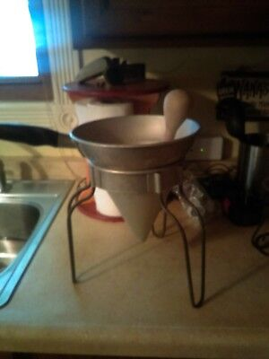Vintage Canning Strainer On Stand
