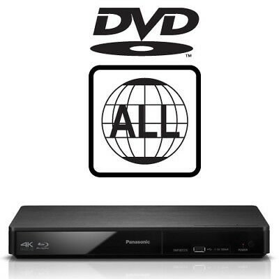 Panasonic DMP-BDT180EB 3D Smart DVD MultiRegion 4K Upscaling Blu-ray Player