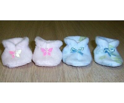 """DOLLS BOOTIES x2 LITTLE BABY BORN 12"""" /13"""" dolls clothes BOOTS 2 inch foot"""