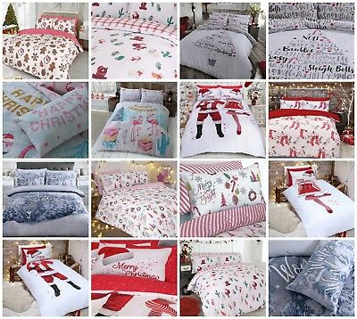 Duvet Cover And Pillow Case Quilt Cover Bedding Set Winter & Red Christmas Range