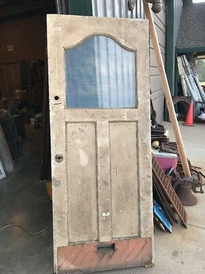 AN 470 antique 32 x 79.75 entrance doorCurved top glass