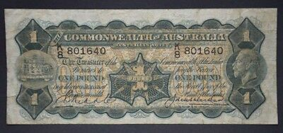 Australian 1927 1 Pound Riddle Heathershaw - George V (KGV)   R26. Nice