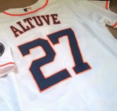 newest 78303 5cdfc HOUSTON ASTROS JOSE Altuve STITCHED World Series Champs Flexbase White  Jersey