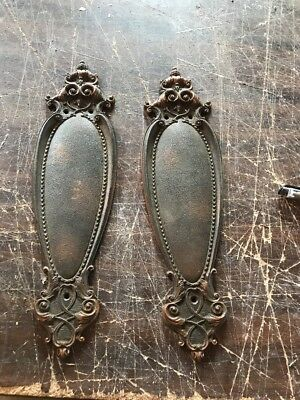 P 18 Match Pair Antique Cast Brass Or Bronze Push Plates For passage door
