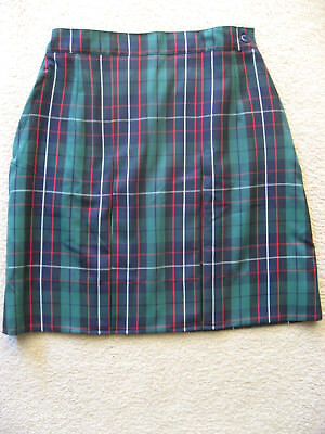 Girls Pleated Winter School Check Skirt Uniform size 8 New