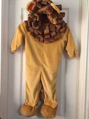 Lion Costume Toddler Brown Zippered Dress Up Suit Boy Or Girl