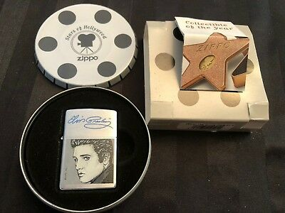 2001 ELVIS PRESLEY Collector ZIPPO STARS of HOLLYWOOD Series LIGHTER w/TIN