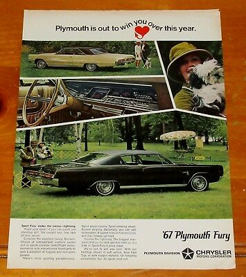 Groovy 1967 Plymouth Sport Fury Coupe & Fastback Vintage Ad - Classic Mopar 60S