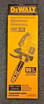 DeWalt 12 in. 20-Volt MAX XR Lithium-Ion Cordless Brushless Chainsaw DCCS620B