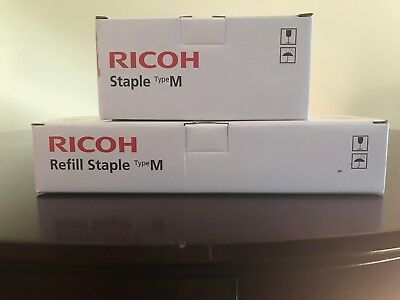 Ricoh OEM Refill Staple Type M, EDP 413026, 5 Cartridges, 25,000 Staples + 1 Sta
