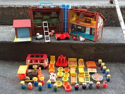 Vintage Fisher Price Little People House and Accessories