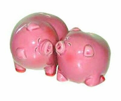 French Country Collectable Novelty Magnetic Pigs Salt and Pepper Set New