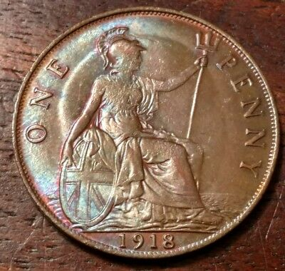1918 Great Britain One Penny 1282