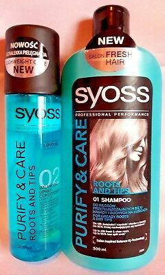 Syoss Purify & Care Set Shampoo +Conditioner Greasy Roots & Dry Hairs Lengths