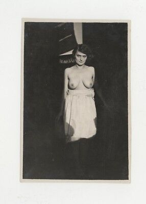 Vintage Nude French Real Photo POSTCARD~Women with Top Down~Carte Postale