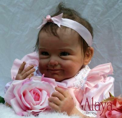 Reborn Baby Doll Soft Simulation Silicone Girl Toy 22in. 55cm Pink Flower