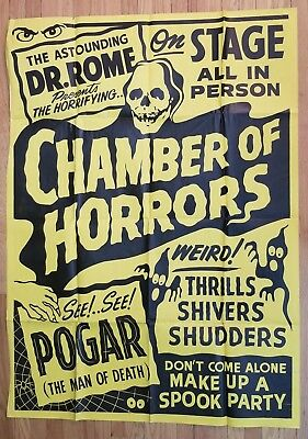 THE ASTOUNDING DR. ROME PRESENTS THE CHAMBER OF HORRORS Spook Show Poster