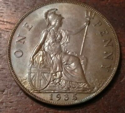 1935 Great Britain One Penny 1287