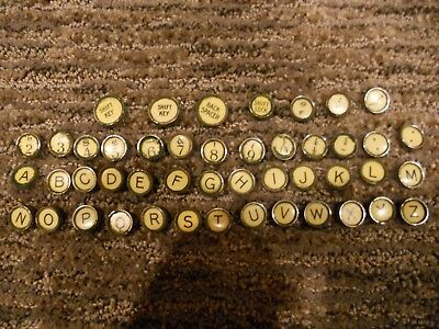LOT of 46 Vintage Remington Typewriter Keys Arts Crafts Jewelry Flat Backs
