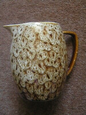Devon England Brown Milk Jug Speckled /drip Design