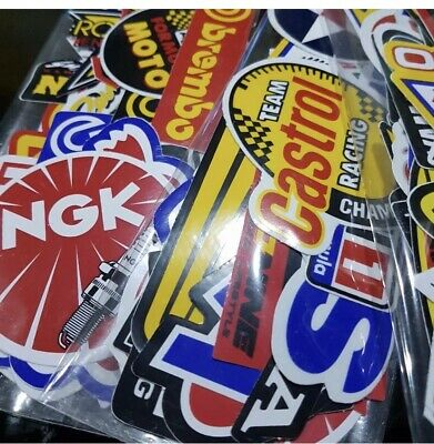 Lot of 60 Pcs Random Racing Stickers Decals Nascar Sticker Vintage Helmet Decal