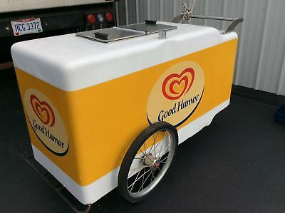 Vintage Good Humor / Breyers Frozen Novelty Street Push Cart - Works - Very Good