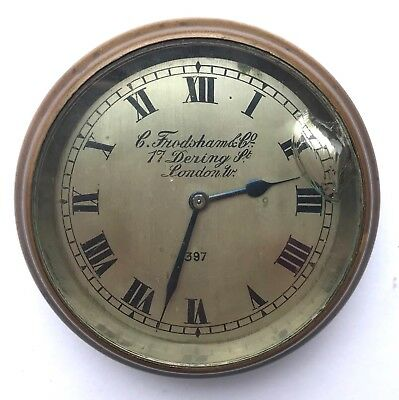 Stunning Charles Frodsham & Co London Brass Cased Car Clock Watch