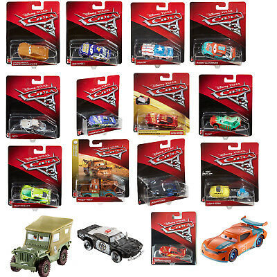 Disney Pixar Cars 3 Diecast Cars - 1:55 Vehicle - All Characters - New & Sealed