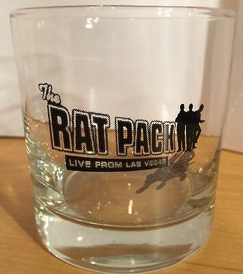 2 Rat Pack Live From Las Vegas 9 Ounce Glasses