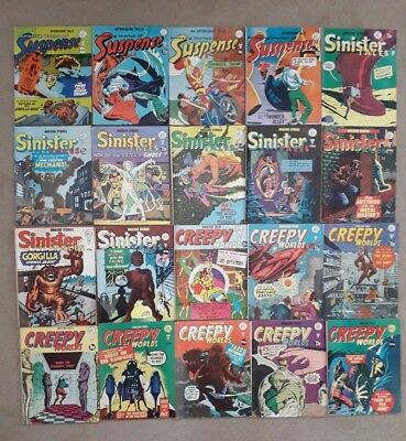 20 x Alan Class Comics - Sinister Tales Amazing Stories Suspense Creepy Worlds