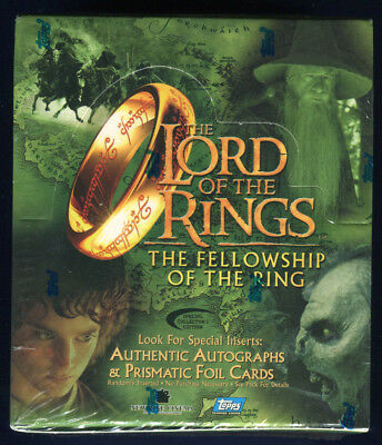 2001 Topps Lord of the Rings Fellowship Coll Edition Factory Sealed Hobby Box *A