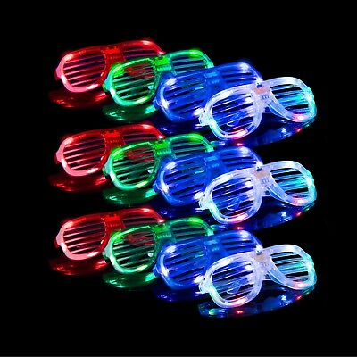 LED Shutter Shades Fashion Glasses Party Favors Festival Event Concert Accessory