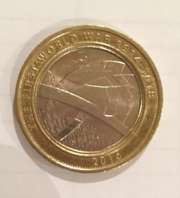The Army - The First World War WWI (1914 -1918) UK £2 / Two Pound Coin 2016