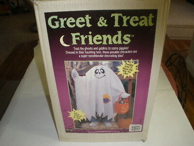 Greet and Treat Friends 3 foot Ghost porch or inside decor Halloween