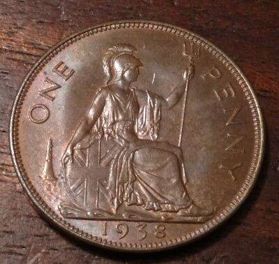 1938 Great Britain One Penny 1289