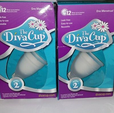 The Diva Cup, Model 2,  lot of 2!
