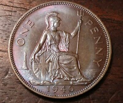 1940 Great Britain One Penny 1290