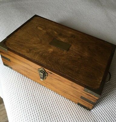 Lovely Antique Wooden Hand Made Writing / Document Box