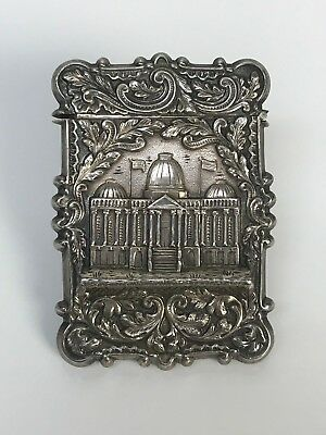Antique Victorian Repousse Silver Card Case