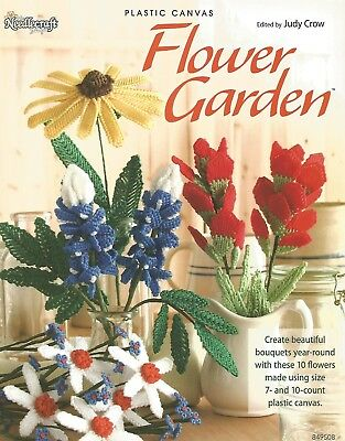 Flower Garden Plastic Canvas Patterns Bouquets 10 Designs Needlecraft Shop