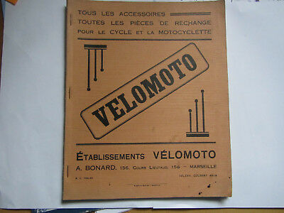 Ancien catalogue motos cycles  VELOMOTO