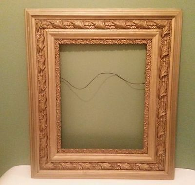 Antique Wood Picture Frame Photo Art Frame Ornate Gold Gesso