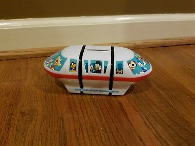 Disney World Disneyland Disney Parks Plastic Monorail Coin Bank