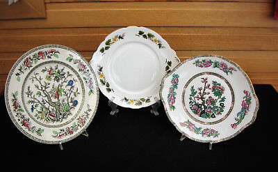 Cake Plates x 3 10 inch by Alfred Meakin, Duchess, Royal Stafford All Good Cond.
