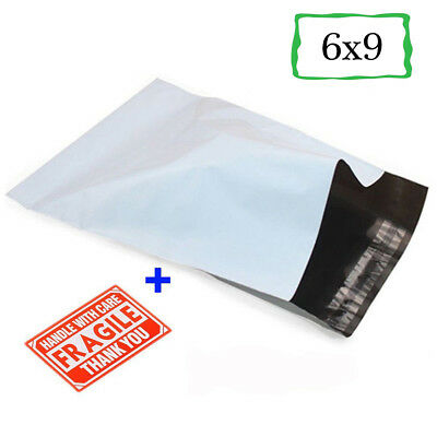 Poly Mailers 6x9 Shipping Envelopes Self Sealing Plastic Packing Mailing Bags