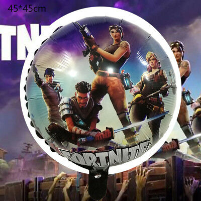18 Fortnite Foil Birthday Party Decorations Balloon 12 8pcs