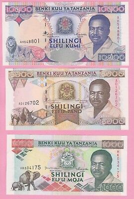 3 Banknotes Tanzania Unc!! Great Quality!!