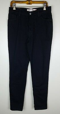 Levis 512 Mom Jeans Size 12 L Long Black Classic Slim Tapered