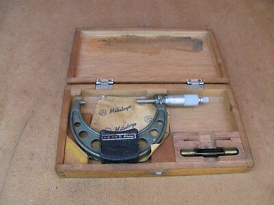 MITUTOYO  Micometer 75-100 mm with wooden box